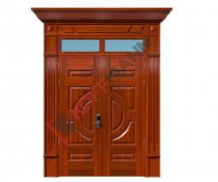 Cửa thép vân gỗ Luxury KL-22.01-2TK-PT