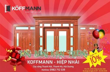 Đại lý Cửa thép vân gỗ KOFFMANN HIỆP NHÀI khai trương với tưng bừng khuyến mại