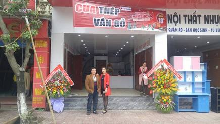 Khai trương đại lý cửa thép vân gỗ HÀ COM ở Hà Tĩnh