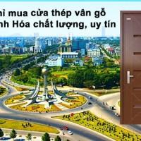 Đại lý phân phối cửa thép vân gỗ tại Thanh Hóa uy tín và tin cậy