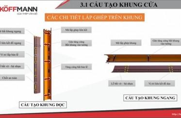Khuôn cửa thép vân gỗ và cách phân biệt khuôn đơn và khuôn kép