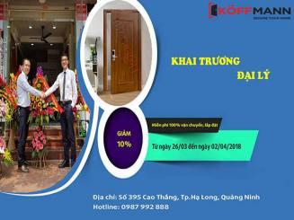 Khai trương đại lý cửa thép vân gỗ tại Quảng Ninh