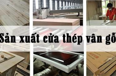 Quy trình sản xuất cửa thép vân gỗ Koffmann chi tiết nhất