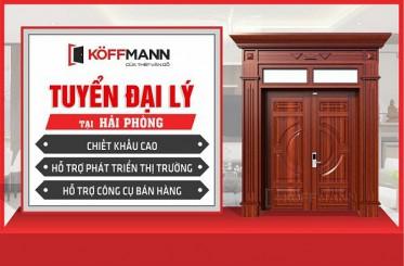 Cửa thép vân gỗ Koffmann tuyển đại lý tại Hải Phòng