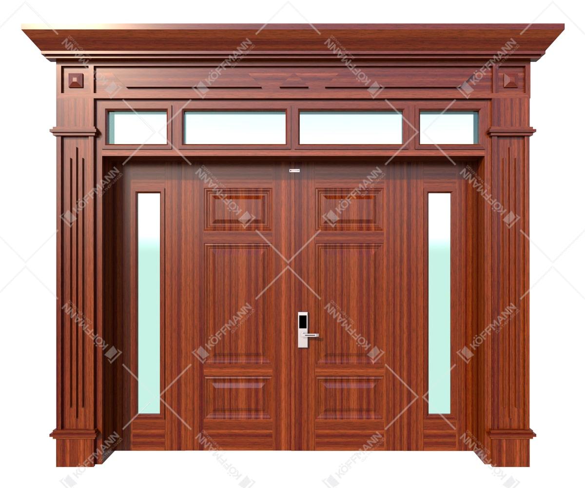Cửa thép vân gỗ Luxury KL-41.03.K-4TK