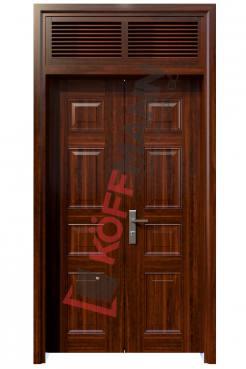 Cửa thép vân gỗ KG22.CS1-2NC