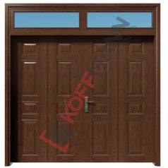 Cửa thép vân gỗ KG42.CS1-2TK