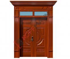 Cửa thép vân gỗ Luxury KL-22.01-2TK-PN