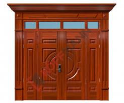 Cửa thép vân gỗ Luxury KL-41.01.03-4TK-PT