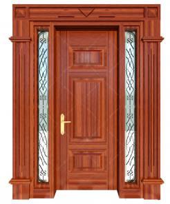 Cửa thép vân gỗ KG-1.06-2VK-1