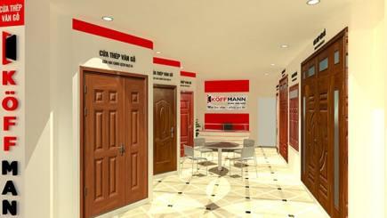 Koffmann chính thức khai trương showroom cửa thép vân gỗ