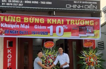 Đại lý Cửa thép vân gỗ KOFFMANN CHINH DIỄN - Thái Bình chính thức được khai trương