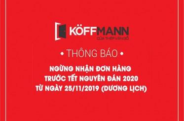 Thông báo ngừng nhận đơn hàng trước Tết Nguyên Đán 2020
