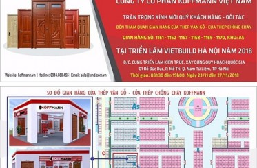 Thư mời tham dự triển lãm Vietbuild Hà Nội tháng 11/2018