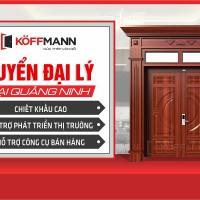 Cửa thép vân gỗ Koffmann tuyển đại lý tại tỉnh Quảng Ninh
