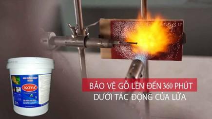 Tiết lộ sơn chống cháy do Việt Nam sản xuất có tiêu chuẩn 360 phút