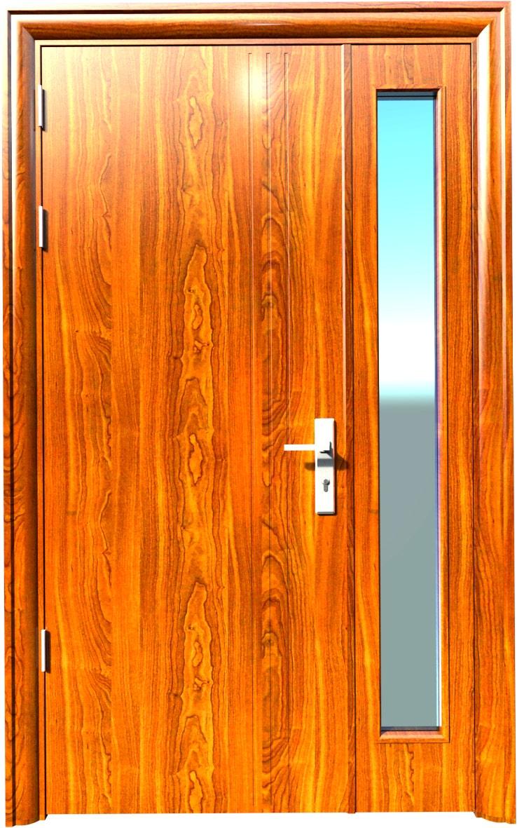 Cửa thép vân gỗ KG-21.08.K-1TK