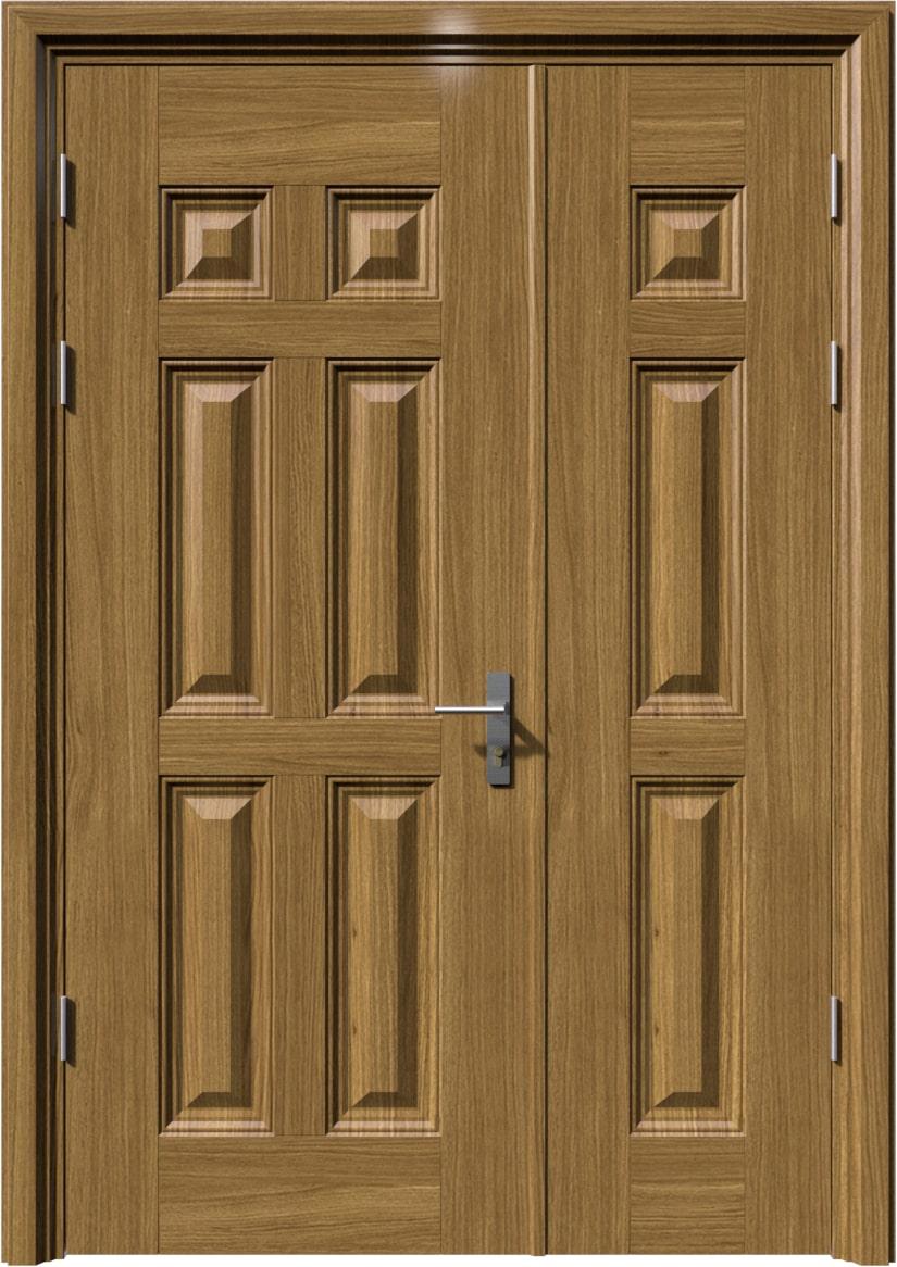 Cửa thép vân gỗ KG-214