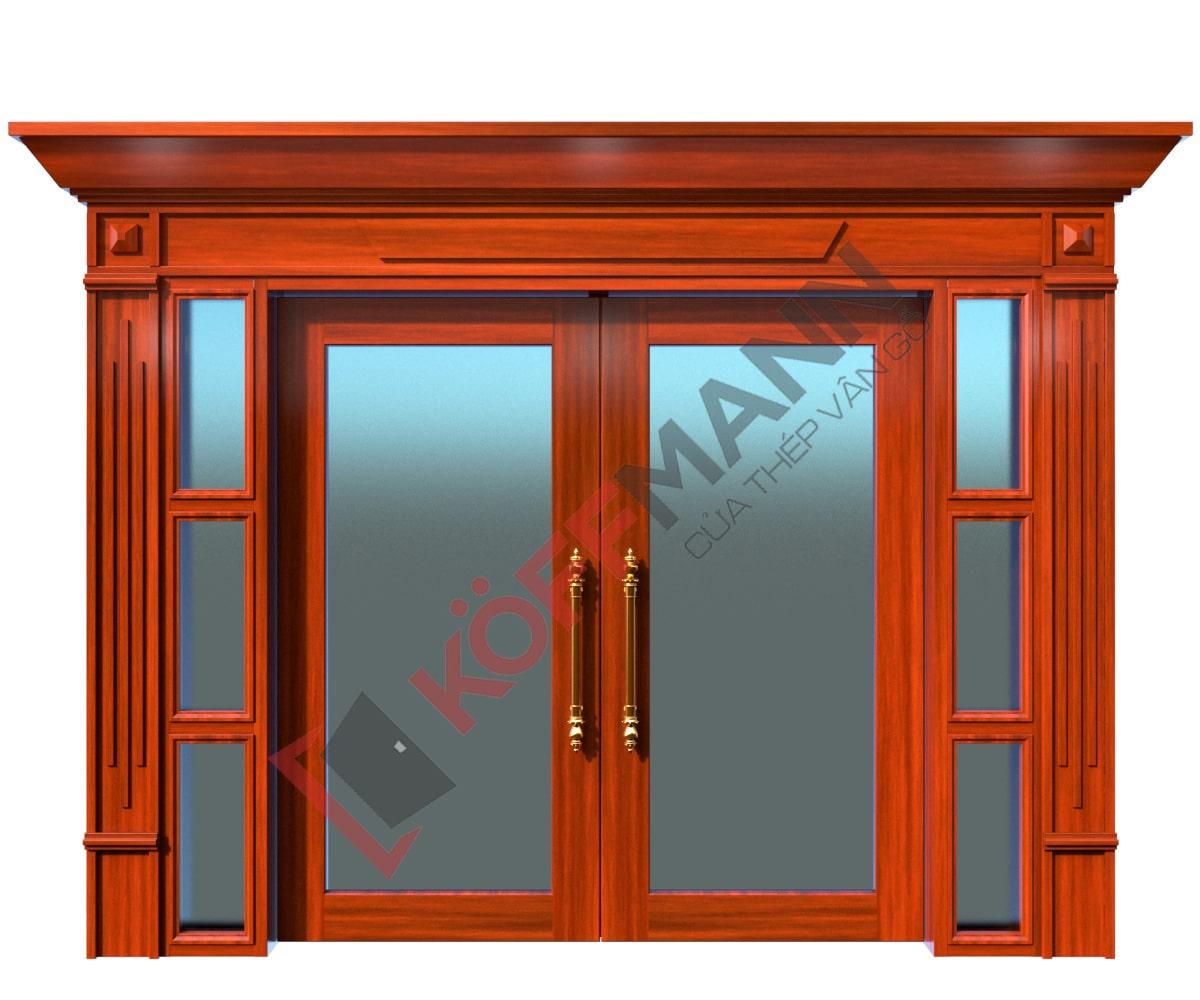 Cửa thép vân gỗ Luxury KLT-2VK