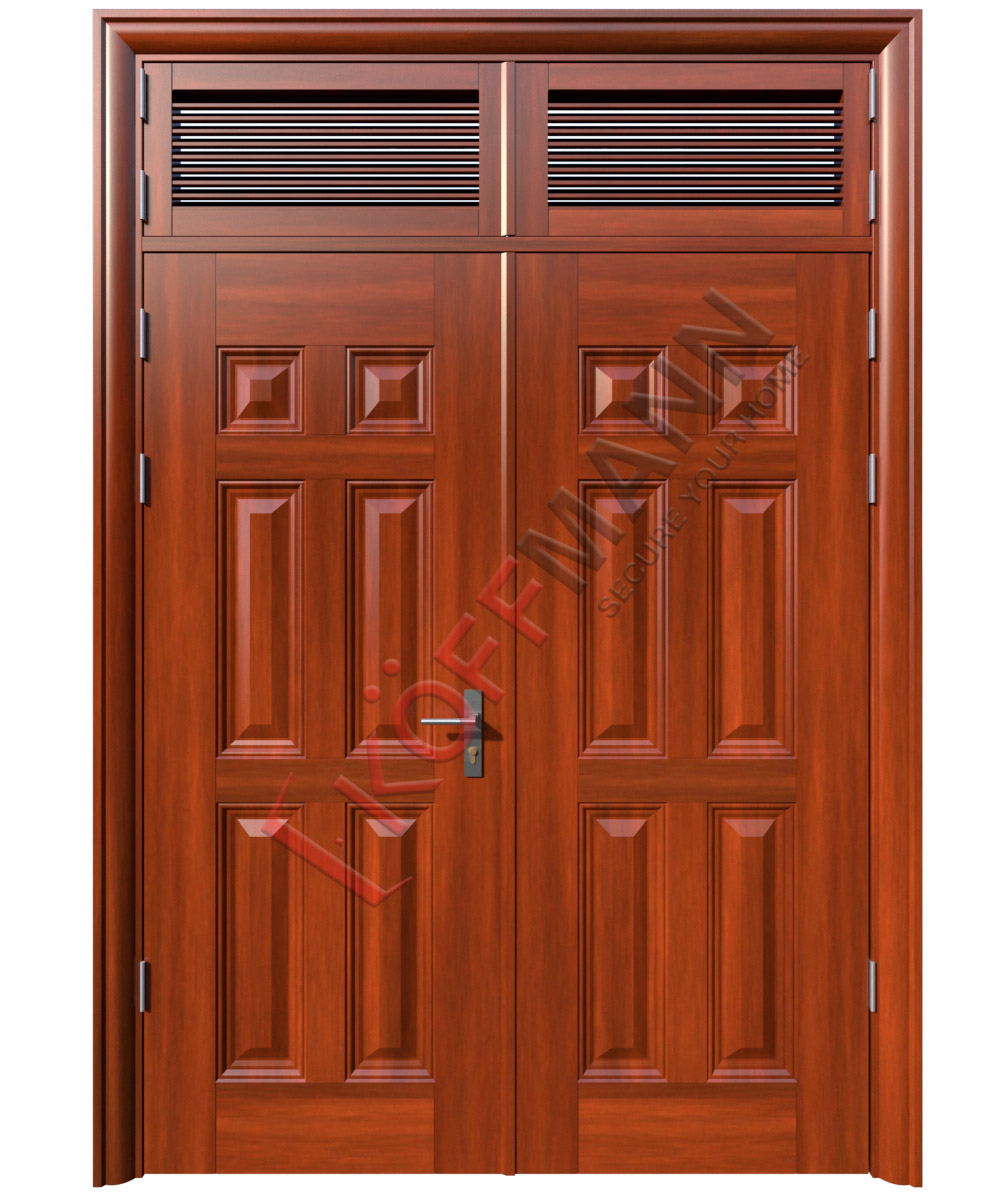 Cửa thép vân gỗ KG-224-2NC