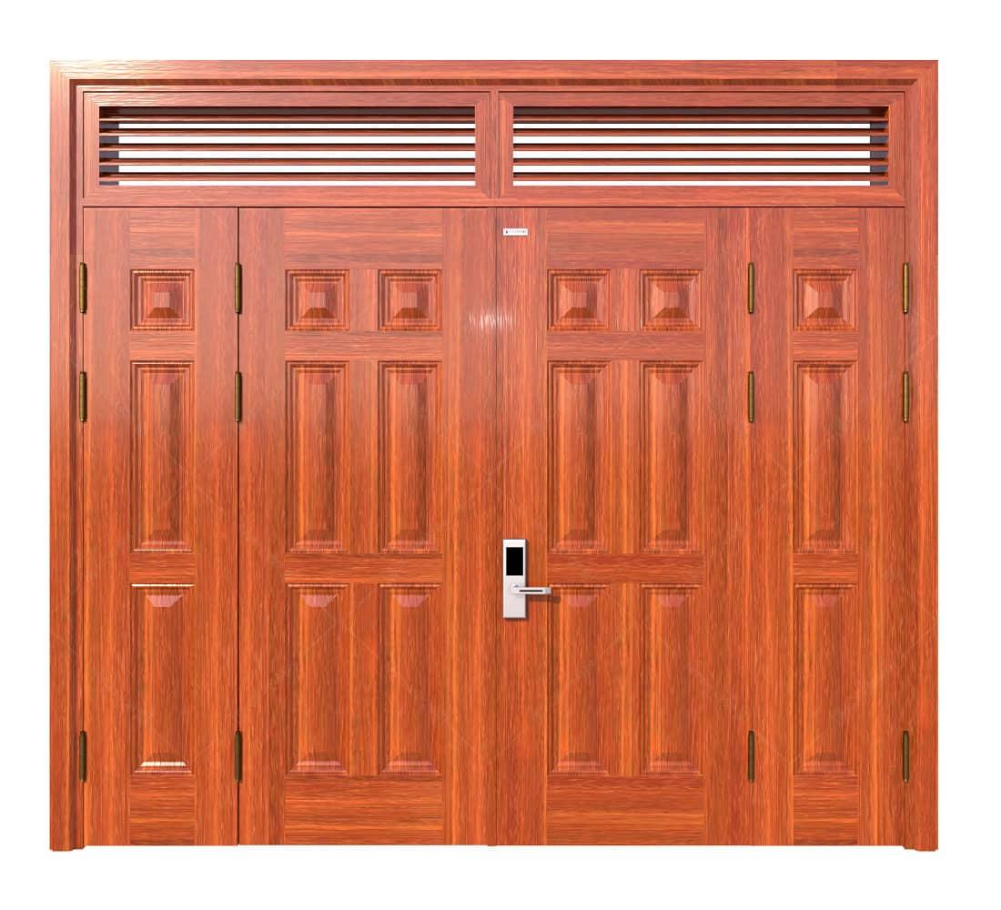 Cửa thép vân gỗ KG-41.04.04A-2NC-2
