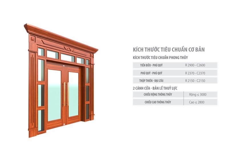 Cửa thép vân gỗ Luxury thủy lực Koffmann và kích thước