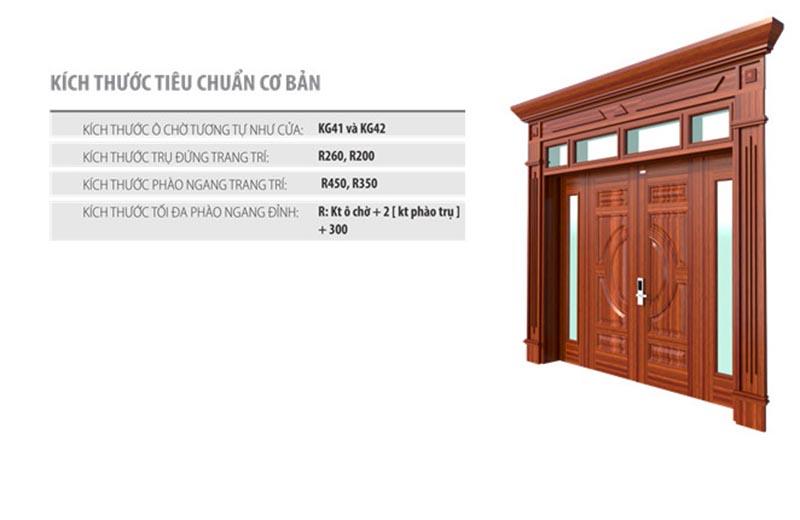 Cửa thép vân gỗ Luxury Koffmann và kích thước